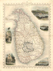 Fine antique map of Ceylon.