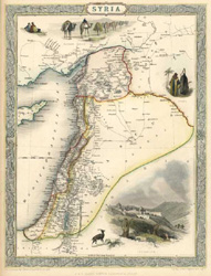 Fine antique map of Syria