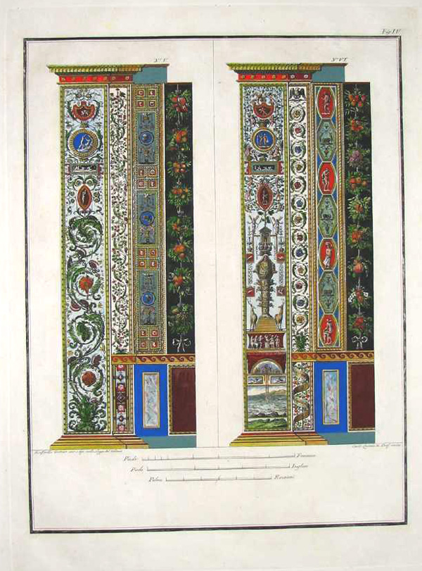 Exquisitely-engraved Vatican Loggia pilasters by Raphael. Pl.4 c1800