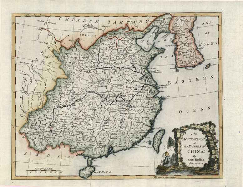 An Accurate Map of the Empire of China. Rollos c1779.