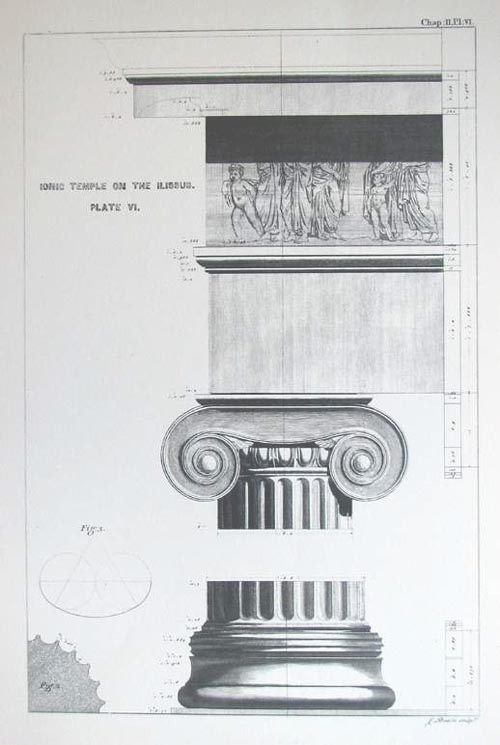 Architecture Print. Ionic Temple on the Ilissus. Plate VI.