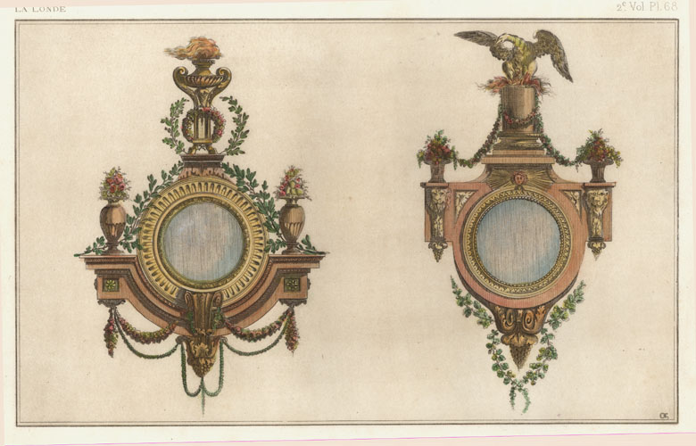 Pair of French Mirrors by La Londe. Rapilly c1863