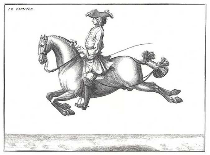 "Art of Horsemanship .2 ""Le Dificile"" position by Baron d'Eisenberg"