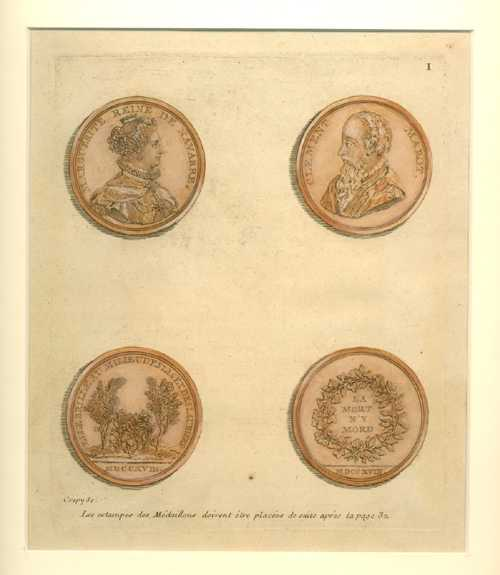 Ancient Commemorative Medallions. Crepy engraving for Tissot c1755. Plate 1