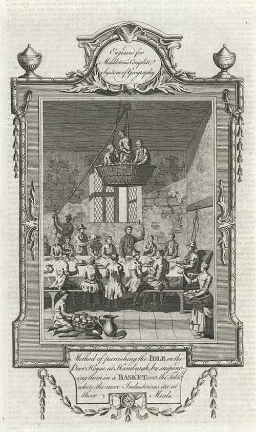 Method of Punishing the Idle in a Basket. Middleton antique print c1777