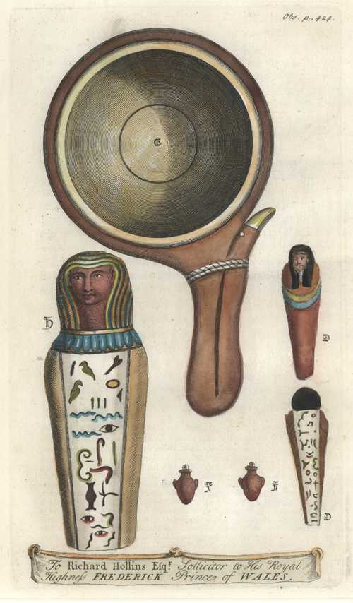 Egyptian Motifs dedicated to Richard Hollins Esq. Solicitor to HRH.. c1738