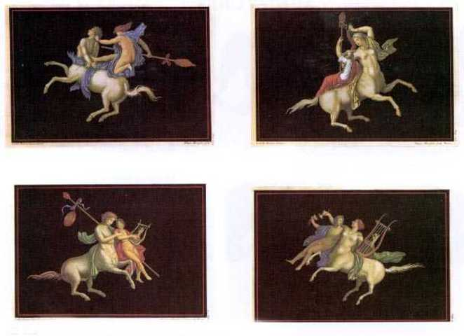 50%-off 4x Heritage Editions Classical Centaurs from Herculaneum Frescoes