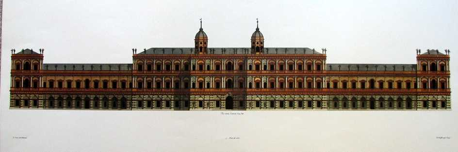Inigo Jones classical English architecture. Whitehall Palace design.