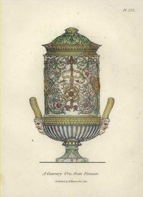 Piranesi Cinerary Urn. Henry Moses engraving c1811.