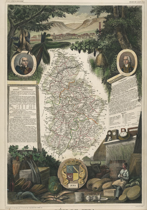 Levasseur French Department of Jura in Burgundy. c1854