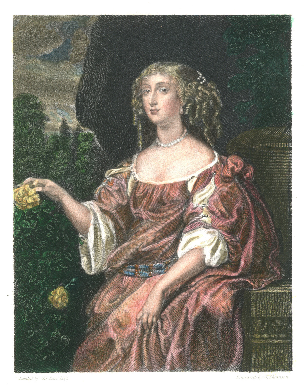 Countess of Rochester, Henrietta. Sir Peter Lely. Engraved c1838.