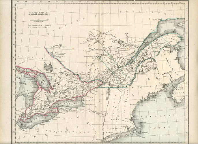 Canada. Great Lakes to River of St. Lawrence. Findlay c1853