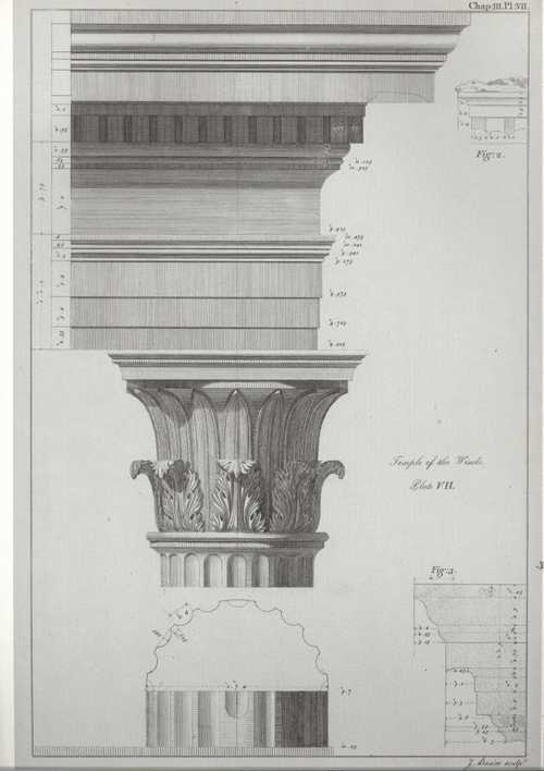Column Capital of Corinthian Style of Architecture reproduction print