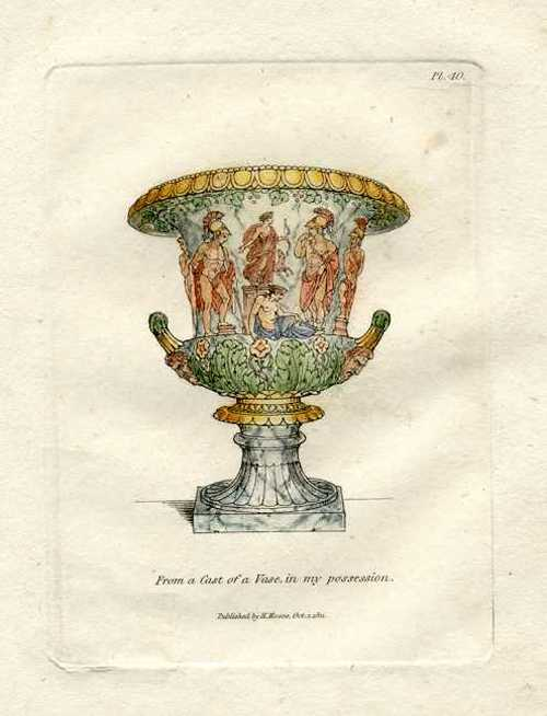 Henry Moses engraving c1811. Vase in his collection