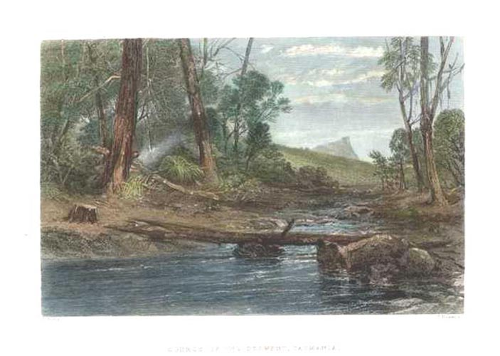 Source of the Derwent, Tasmania. Skinner Prout c1874.