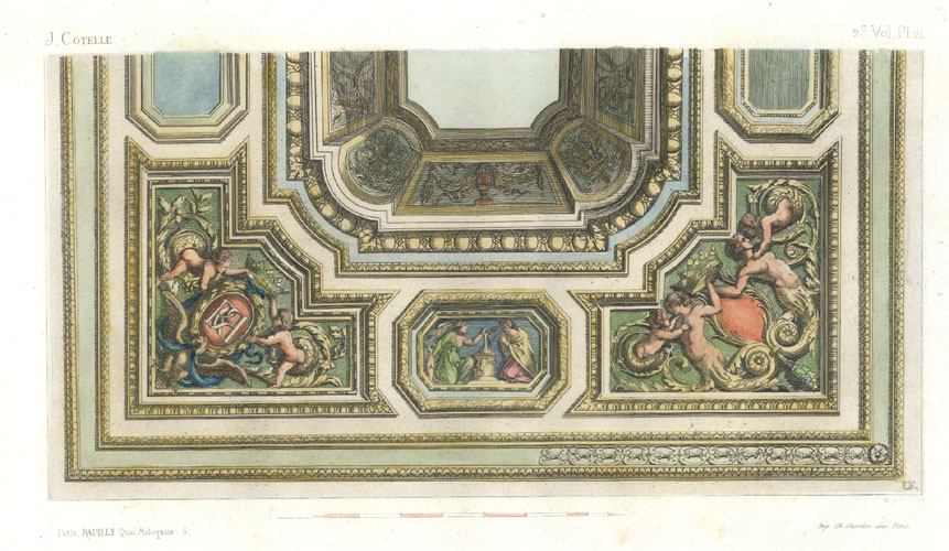 Ceiling design by J Cotelle. Rapilly engraving c1863