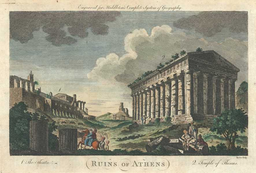 Greece. Ruins of Athens. Theatre, Temple of Theseus. Middleton c1777.