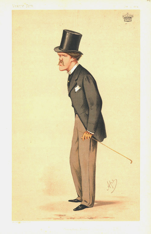 """Chesterfield Letters"" Vanity Fair caricature lithograph. Earl of Desart, c1874."