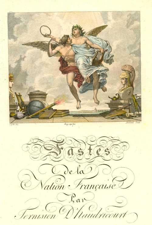 "Frontispiece to ""Fastes de la Nation Française"".  Engraving c1810"