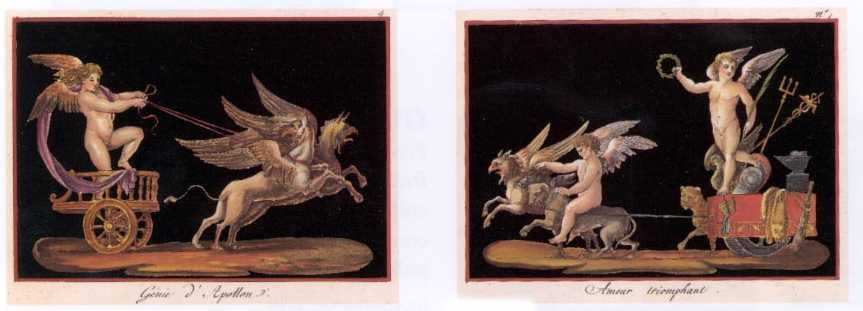 50%-off 2 x Cherubs on Chariots. Small Heritage Editions prints