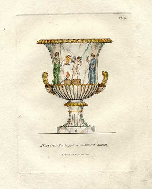 Vase from Roccheggiani's Antique Monument. Henry Moses engraving c1811