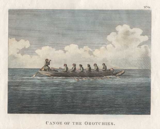 Russia. Canoe of Orotchies, Bay of Castries, Tartary. c1798
