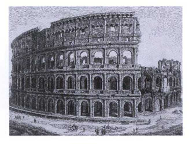 Rossini Views of Rome from c1820. Colosseum print