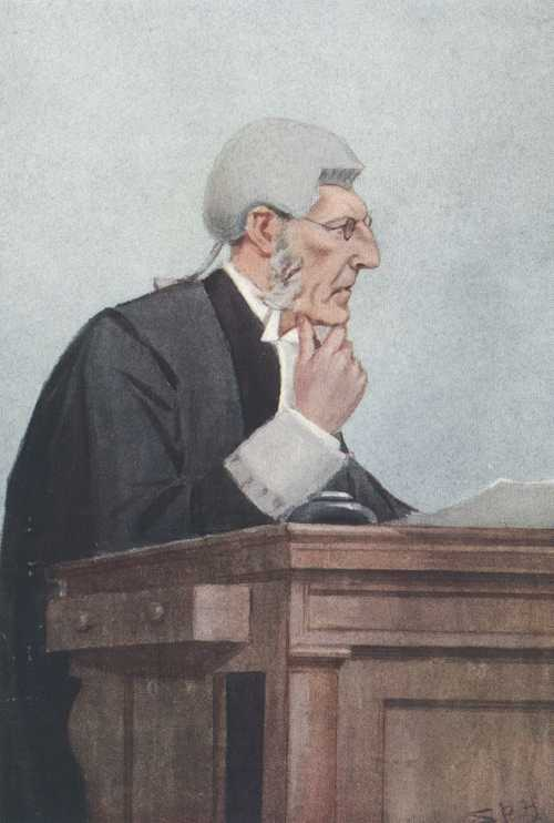 "Legal Judge, Vanity Fair caricature ""Bosey"". Book of the Bench c1909."