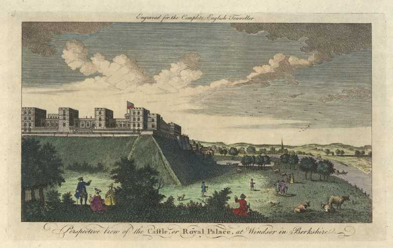 Early View of the Castle, or Royal Palace, at Windsor in Berkshire. c1773,