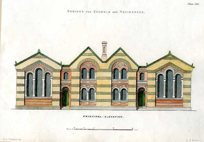 English Architectural Design for Schools and Residences c1850