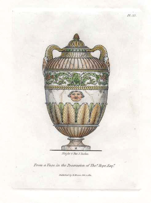 Vase in possession of Thomas Hope Esquire. Engraving c1811