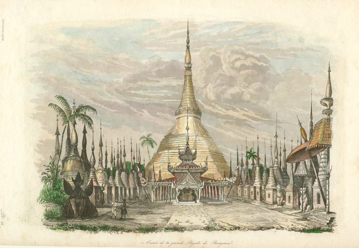 Myanmar, Grand Pagoda of Rangoon. Shwedagon Zedi Daw at Yangon. c1834.