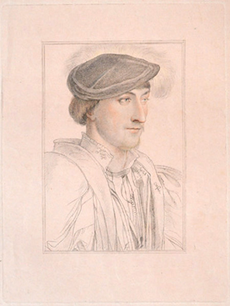 Hans Holbein portrait of Lord Clinton. Bartolozzi engraving.
