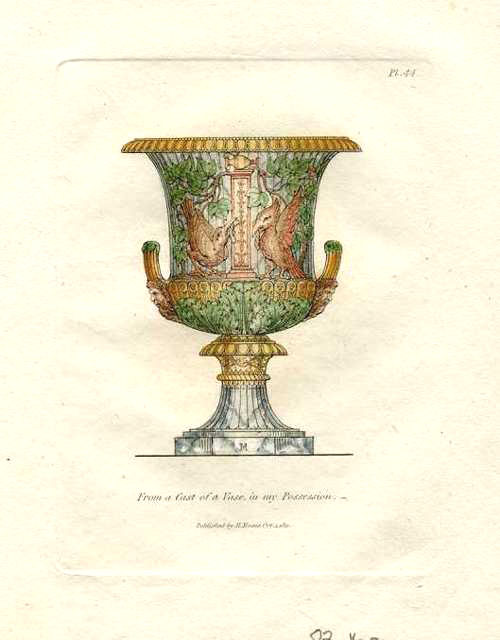 Henry Moses engraving c1811. Vase in his own collection