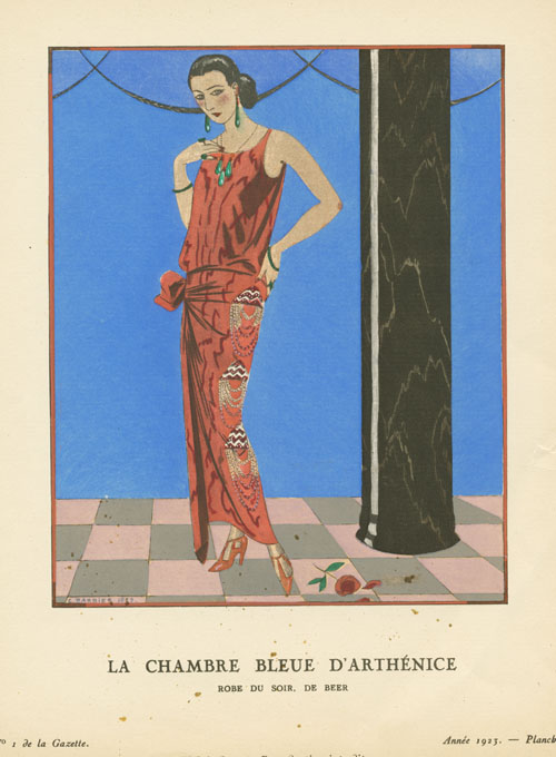 1920s fashion by Barbier. La Chambre Bleue d'Arthenice. Gazette du Bon Ton.
