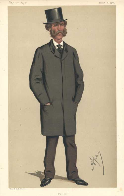 """Police"" caricature. Vanity Fair lithograph. Admirable Australian policeman. c1875."