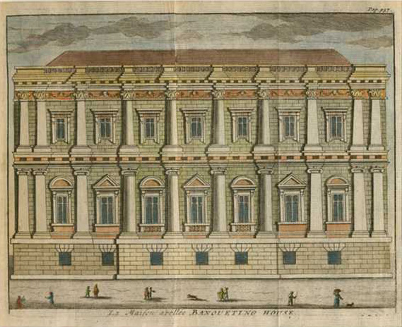 Beeverell. The Mansion called Banqueting House. Antique print c1727