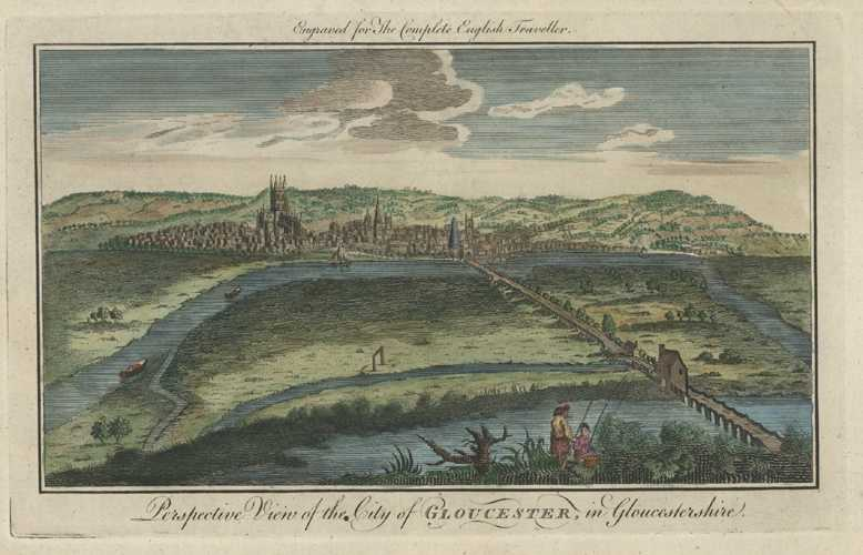 Complete English Traveller City of Gloucester. Spencer engraving c1773