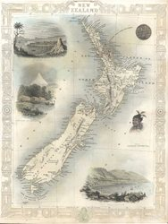 New Zealand antique map