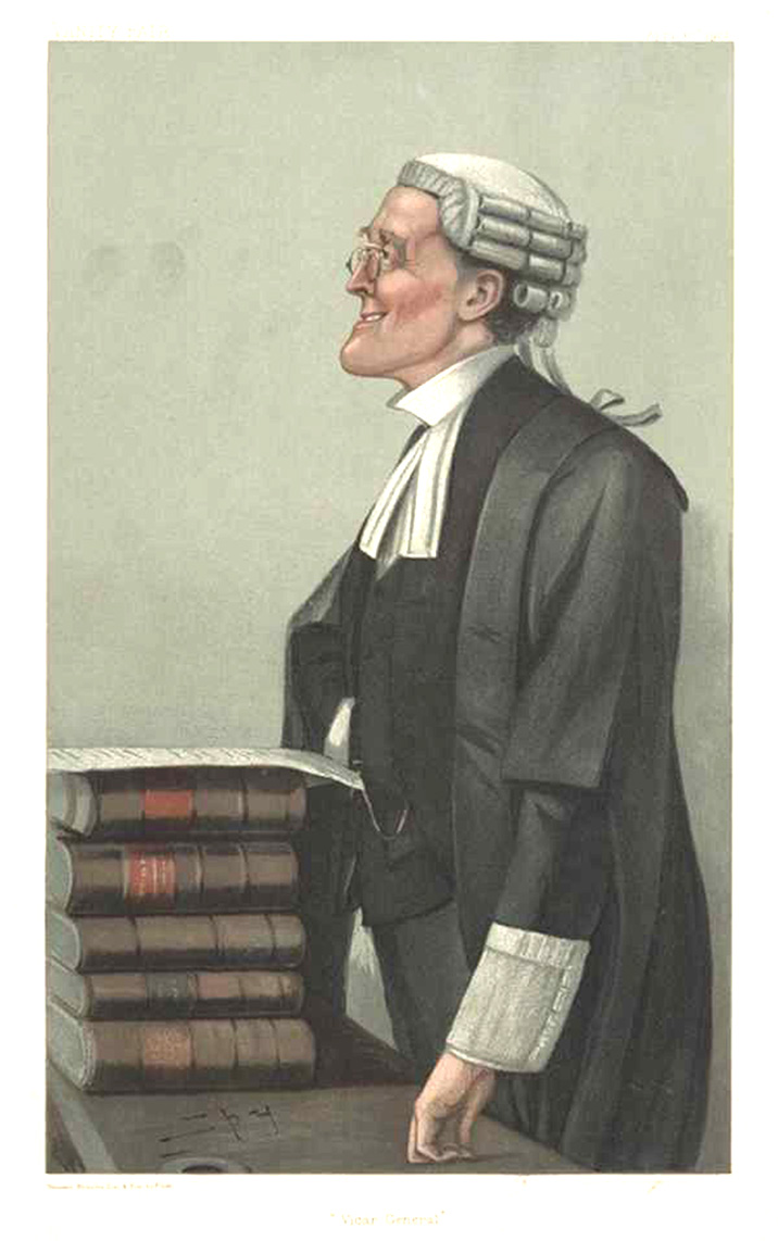 "Legal Vanity Fair lithograph ""Vicar General"" by Spy (Leslie Ward) c1902"