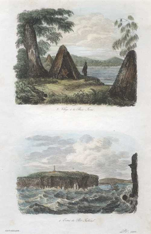NSW. Jervis Bay. Entrance to Port Jackson. D'Urville c1835