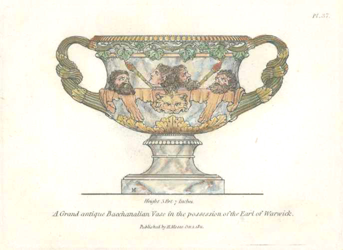 Grand antique Bacchanalian Vase, engraved by Henry Moses c1811