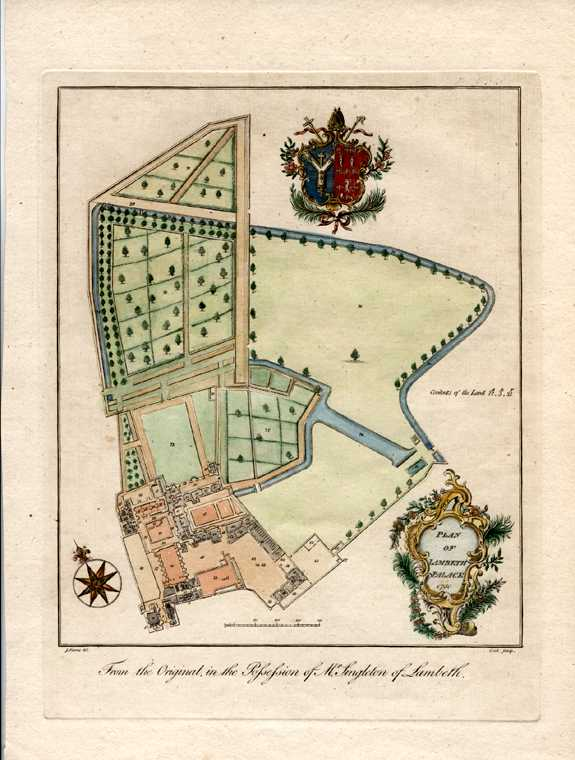 Francis Grose Plan of Lambeth Palace. c1785