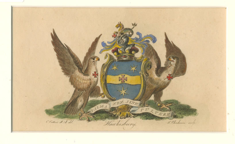 Hawkesbury coat of arms. Motto: free of dust.