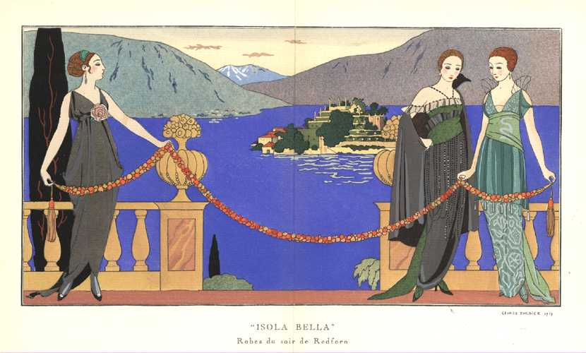 George Barbier, Isola Bella. Beautiful fashion for Gazette du Bon Ton, c1919