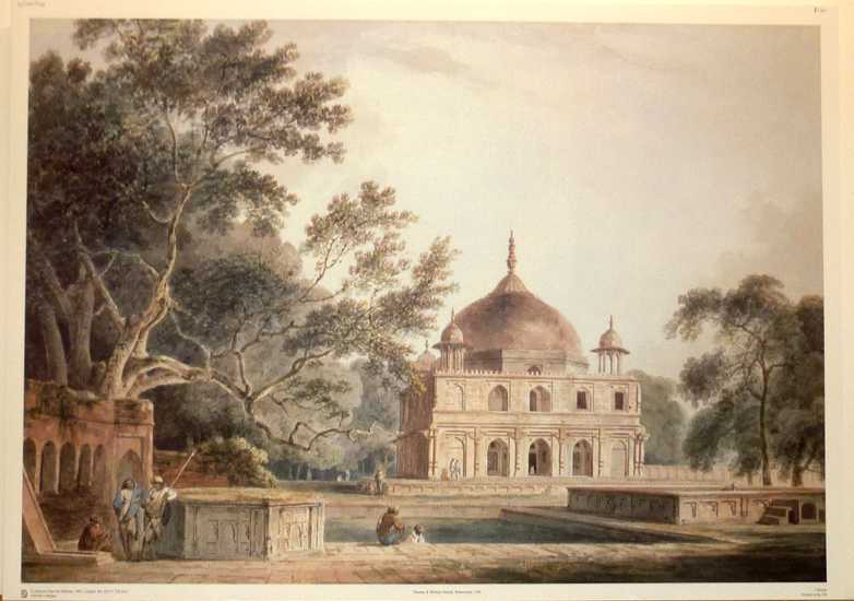 Thomas Daniell, Indian Architecture fine large reproduction print.