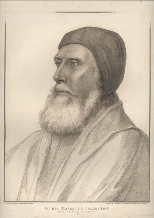 Holbein portrait of John Russell, Lord Privy Seal. Bartolozzi engraving c1796