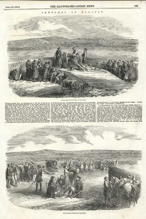 Crimean War. Sketches at Kalafat. c1854
