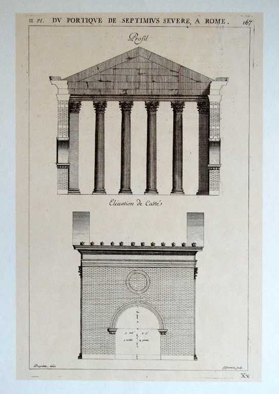 Desgodetz Architectural drawing Du Portique de Septimus Severe