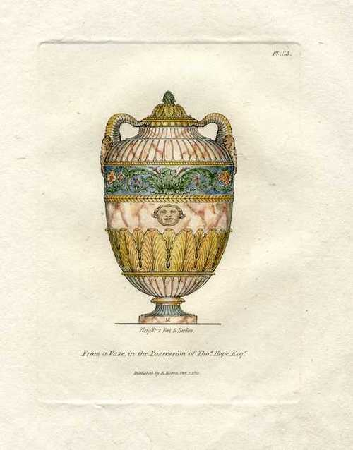 From a Vase in the Collection of Thomas Hope. Engraving c1811.